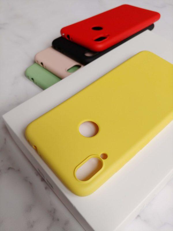 silikonowe etui redmi note 7 żółte